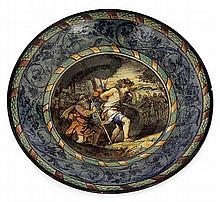 Ernest CHAPLET (1835-1909) A large circular enamelled earthenware bowl