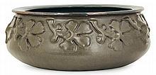 Auguste DELAHERCHE (1857-1940) A large circular enamelled stoneware bowl