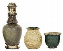Auguste DELAHERCHE (1857-1940) - A small enamelled stoneware perfume lamp