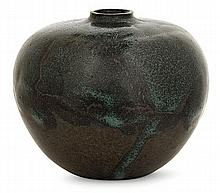 Auguste DELAHERCHE (1857-1940) A small potbellied stoneware vase