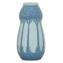 Gustavberg-Herberg - An ovoid enamelled vase