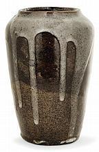Eugène LION (1867-1945) An ovoid enamelled stoneware vase