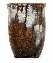 ÉTIENNE MOREAU-NÉLATON (1859-1927) Small cornet enamelled stoneware vase