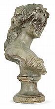 Lucien ARNAUD - An enamelled stoneware woman bust