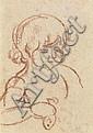 LOUIS-ANDRÉ VALTAT (1869-1952) PORTRAIT D'ENFANT Sanguine sur papier Signée des initiales en bas à droite 27 X 21 CM