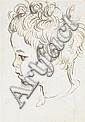 AUGUSTUS EDWIN JOHN (1878 - 1961) TETE DE JEUNE GARCON Encre sur papier 15 X 11 CM