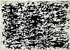 Henri Michaux (1899-1984) Sans titre, 1959 Indian ink on paper Signed with the artist's monogram lower right 29 1/2 x 41 3/8 in