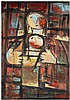 Fateh Moudarres (1922-1999) Sans titre, 1968 Oil on canvas Signed and dated lower left  45 5/8 x 32 1/8 in