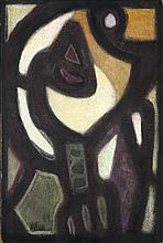 Jean-Michel Atlan (1913-1960) Sans titre, 1959 Oil on canvas  Signed and dated 59 lower left 28 3/4 x 19 7/8 in