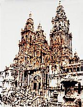 ƒVik Muniz (né en 1961) Catedral de Santiago de Compostela (Pictures of chocolate), 2003 Chromogenic print Signed, numbered AP 1/3 a...