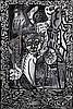 Robert Combas (né en 1957) Série Autoportraits, En chantonnant Lyon pleureur au choix Mixed media and collage on canvas Signed lower...