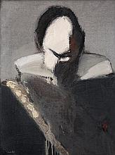 Manolo Valdés (né en 1942) Conde Duque de Olivares IV, 1986 Oil on canvas Signed lower left 31 1/2 x 23 5/8 in