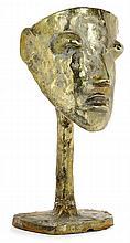 BG ÉLIZABETH GAROUSTE (NÉE EN 1949) & MATTIA BONETTI (NÉ EN 1952).& EN ATTENDANT LES BARBARES (Éditeur).Masque. A gilded patinated bron