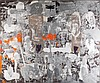 Mimmo Paladino (né en 1948).Esercizio di lettura 1, 1998. Mixed media and collage on canvas.Signed, dated and titled on the reverse.95