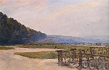 ALEXANDRE ROUBTZOFF (1884-1949) LES TERRASSES DE SAINT-GERMAIN-EN-LAYE SAINT-GERMAIN-EN-LAYE, THE TERRACES Huile sur toile contrecol...