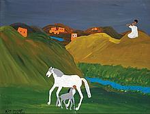 AÏT YOUSSEF SAÏD (1920-1986) SCÈNE DE CAMPAGNE IN THE COUNTRYSIDE Huile sur toile signée et datée
