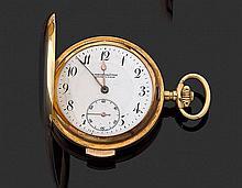 ANONYME CHRONOMÈTRE ANNÉES 1900 Montre de poche savonnette en or jaune avec répétition des quarts