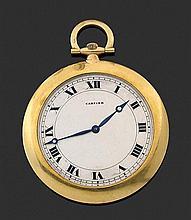CARTIER VERS 1910-1920 élégante montre de smoking avec boîtier