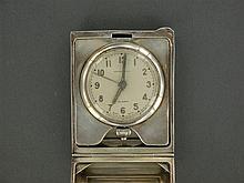 TIFFANY & CO PENDULETTE DE CHEVET A silver clock by Tiffany & Co.A silver small clock byTiffany.