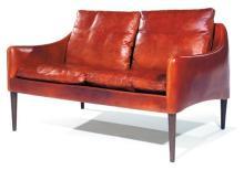 HANS OLSEN (1912-1992) Élégant petit canapé deux places