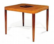 ERIK CHAMBERT (1902-1988) Table de milieu carrée pouvant former table de salle à manger, circa 1930