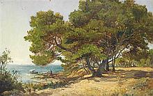 Luc Raphaël Ponson (1835-1904) Bord de mer animé