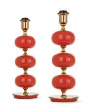 TRANÅS STILARMATURERA pair of orange table lamps
