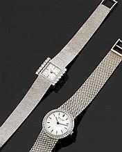 ƒƒ SACAR Circa 1970  A diamond and gold lady's wristwatch