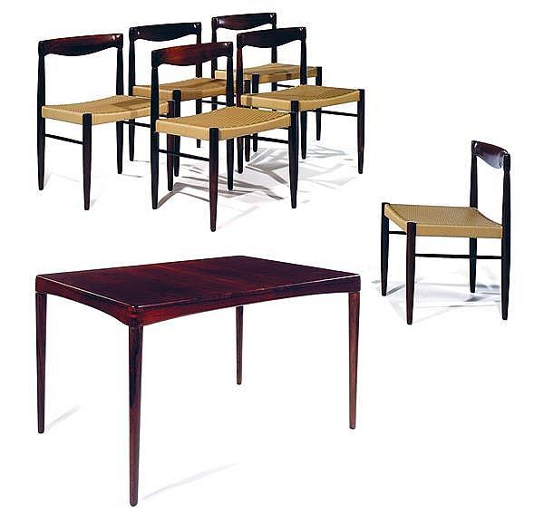 Bramin diteur salle manger en palissandre comprenant un - Table a manger rectangulaire ...