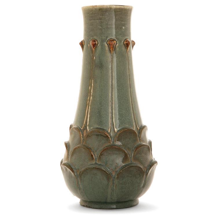 AUGUSTE DELAHERCHE (1857-1940) A stoneware vase, c