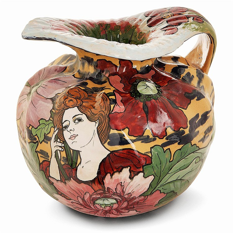 PIERRE-ADRIEN DALPAYRAT (1844-1910) An earthenware pitcher, c