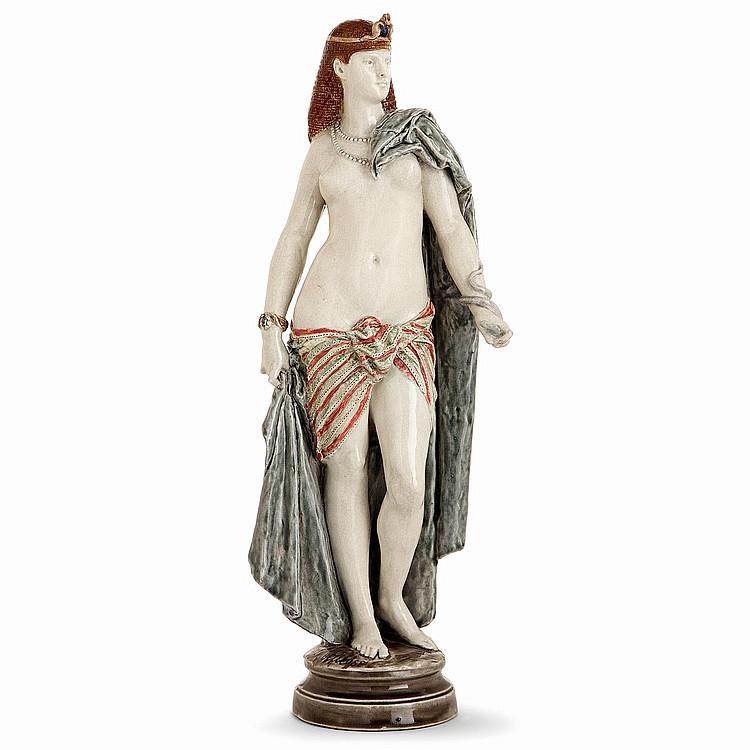 ALBERT-ERNEST CARRIER-BELLEUSE (1824 -1887) & CHOISY LE ROI (FAÏENCERIE DE) An earthenware sculpture