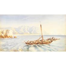 FÉLIX ZIEM (1821-1911)BARQUE EN MEDITERRANEE, 1849