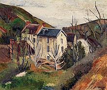 LOUIS NEILLOT (1898-1973) MAISON DANS LA COLLINE, 1926 Huile sur toile Signée et datée