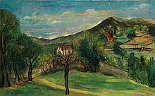 Isaac Antcher (1899-1992) Paysage de campagne Huile sur toile Signée en bas à droite80 x 130cm