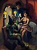Alexis Hinsberger (1907-1996) La loge Huile sur toile Signée en bas à gauche 61 x 46cm
