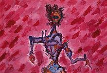 Armand-Henri Nakache (1894-1976) Le magicien Huile sur toile Signée en bas à gauche 46 x 65cm