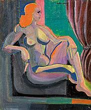 André Fougeron (né en 1913) Femme assise Huile sur toile Signée en haut à droite 55 x 46cm