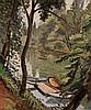Jean Hippolyte Marchand (1883-1940) Barque au bord de rivière Huile sur toile Signée en bas à gauche 73 x 60cm