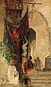 ƒ Attribué à HENRI REGNAULT (1843-1871) AU HAREM AT THE HAREM Huile sur toile monogrammée en bas à gauche. 65 x 42cm (26 x 16.5 in....