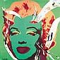 Mimmo Rotella (1918-2006) Lo strappo di Andy, 2005 Arrachage d'affiches sur toile Signé en bas à gauche Titré et daté au dos Torn po...