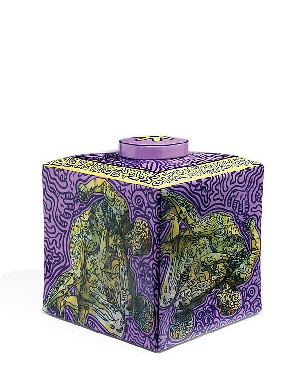 ROBERT COMBAS (NÉ EN 1957)  Les lutteurs, 2008 Céramique Signée et numérotée 4/8 Edition Stéphane Klein Ceramic Signed and numbered ...