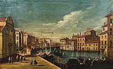 école vénitienne du XVIIIe siècle Vue de Venise Toile 62 x 99 cm