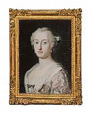 Attribué à Rosalba CARRIERA (1675 - 1757) Portrait présumé de la comtesse MIARI Toile 48 x 37 cm Restaurations anciennes, petits man...