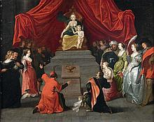 Attribué à Simon de VOS (1603 - 1676) Hommage à Vénus Cuivre 70 x 86,5 cm