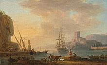Jean- Michel DIEBOLT (1779 - après 1824) Marine Sur sa toile et son châssis d'origine 20 x 30,5 cm Signée en bas à gauche : Diebolt ...