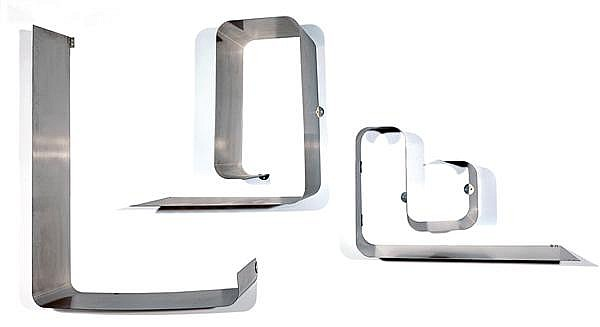 Joël FERLANDE (XXe) & KAPPA (Éditeur) Suite de trois étagères formant architecture moderniste, modèle