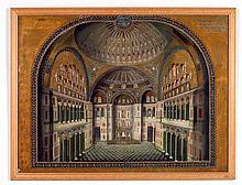 ALEXANDRE RAYMOND (1872-v. 1941) Paire de panneaux architecturaux français.