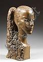 Chana ORLOFF (1888-1968) Portrait d'Ariela, 1968 Epreuve en bronze à patine verte Fonte d'époque Porte le cachet de fondeur
