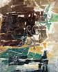 Paul Kallos (1928-2001) Sans titre, 1957 Huile sur toile Signée et datée 57 en bas à droite Contresignée et datée au dos Oil on canv...